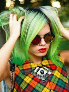 tinte semipermanente color fantasia verde